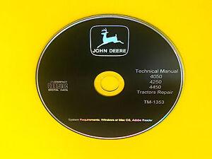 TM1353-John-Deere-4050-4250-4450-Tractor-Technical-Service-Manual-Repair-Book-CD