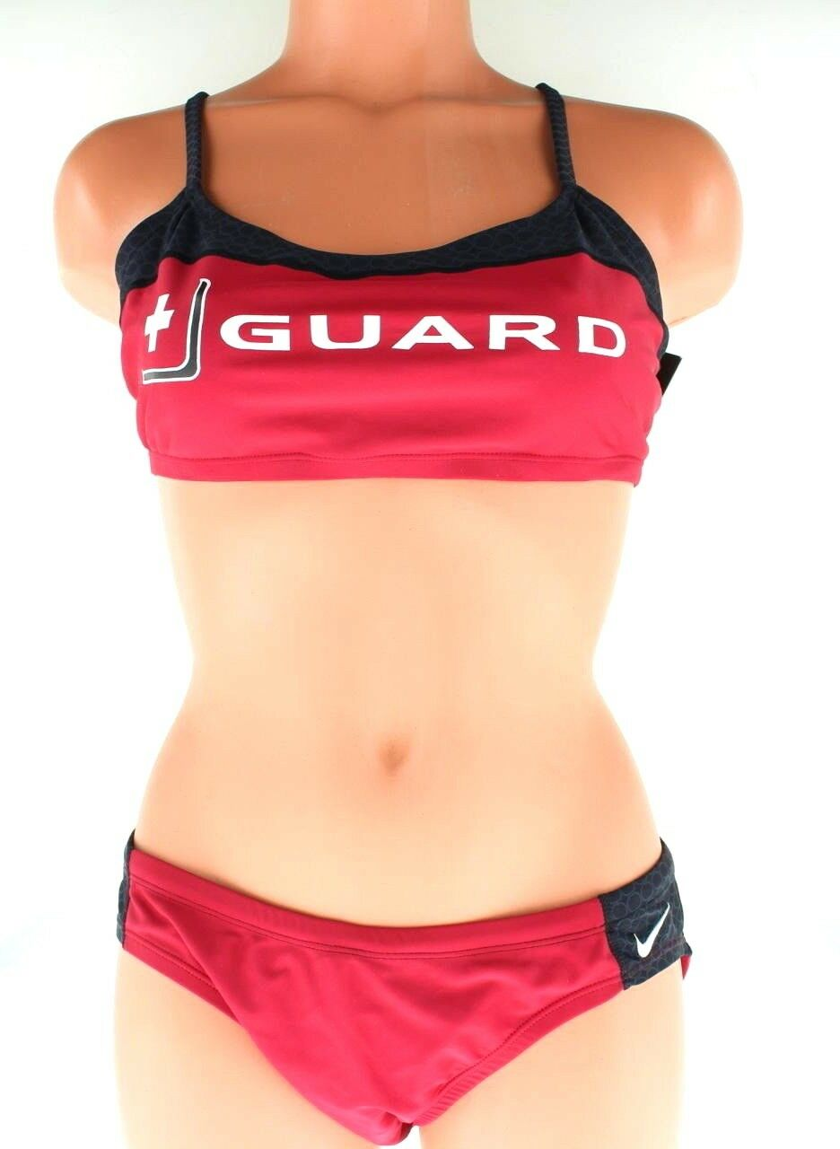 be6c6499c6d Nike Swimwear Women's Lifeguard Guard Bikini 2 PC Swim Set Black Navy Red  30-36 Blue 30 for sale online | eBay
