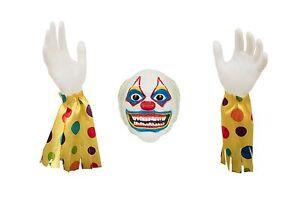 Halloween-Gartendekoration-Boser-Clown-Boden-Unterbrecher-1-Kopf-und-2-Hande