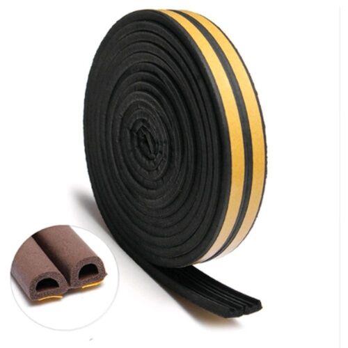 Draught Excluder Self Adhesive Rubber Door Window Seal Strip Roll Foam