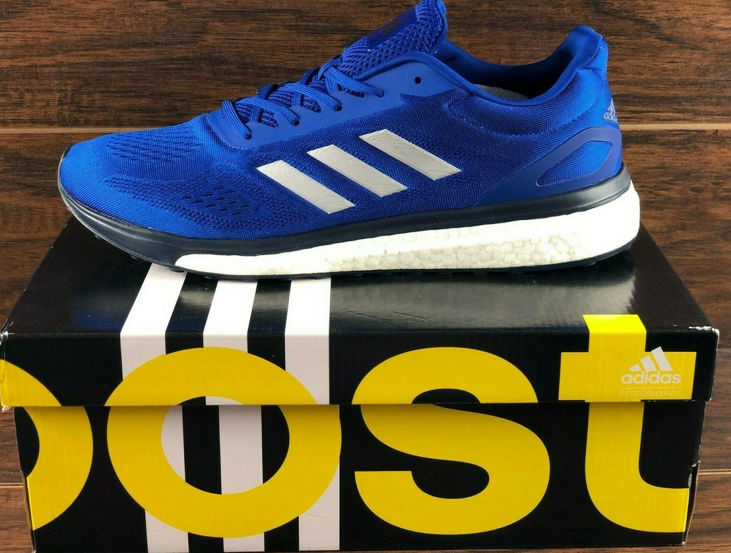 ADIDAS SONIC DRIVE M PERFORMANCE BOOST RUNNING SHOES blueE WHITE