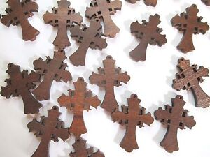 Wholesale lot of 25 small wood crosses very pretty for Wooden craft crosses wholesale