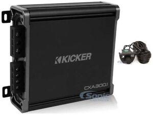 Kicker-43CXA3001-CX300-1-CX-300W-RMS-Mono-Car-Audio-Class-D-Amplifier-Amp-Remote