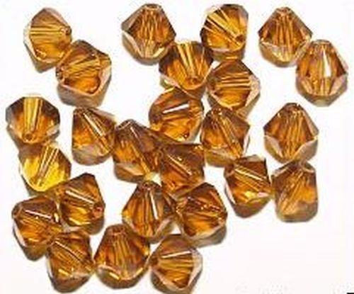 25 bicono cristal acabado perlas 6 mm #36 nogal