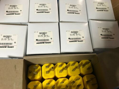 ARROW-HART LOT OF 10 NEW IN BOX COOPER PLUGS AH5965Y 15A 125V