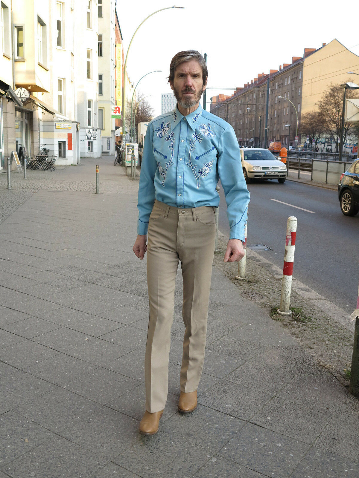 Wrangler Hose beige Bügelfalte 80s TRUE VINTAGE beige men trousers pants bowfold