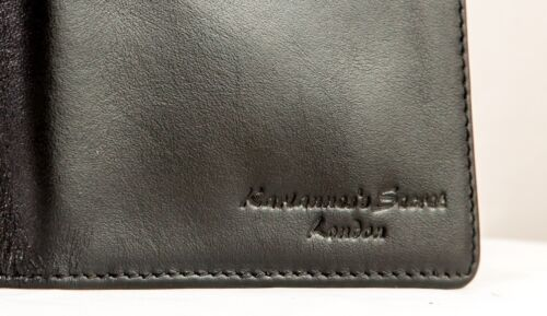 Luxury Genuine Leather Hand Made Breast Pocket Wallet In Black With Gift Box