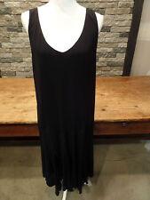 Ralph Lauren Dress Black Jersey Flapper Sleevless Cut Skirt Plus Sz 1X NWT $165