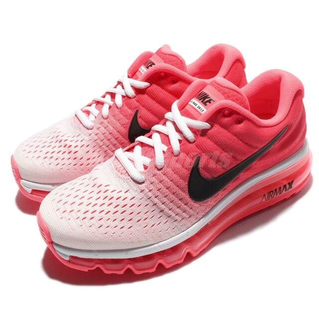 Wmns Nike Air Max 2017 White Black Hot Punch Women Running Shoes 849560-103