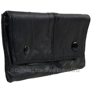 New-Soft-Black-Lined-Leather-Sheep-Nappa-Tobacco-Pouch-Rizla-Pocket-Great-value