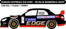 DECALS 1/43 SUBARU IMPREZA WRC - #1 - KUZAJ - RALLYE DE BARBORKA 2007 - D43171
