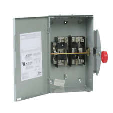 Double Throw Safety Switch 100 Amp 120240 Volt 24000 W Non Fused General Duty