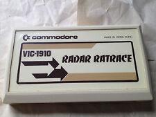 RADAR RAT RACE Video Game Cartridge  Commodore VIC-20 VIC-1910 vintage