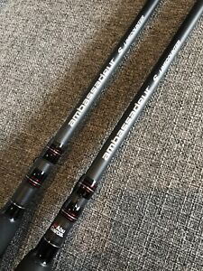 Set-Of-2-Abu-Garcia-Ambassadeur-S-Telescoping-Rods-8-6-Medium-10-20-Lb-Line