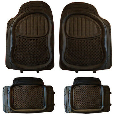 Jeep 4x4 SUV mud Snow Mat  Rubber PVC Car Mats Extra Heavy Duty 4pcs