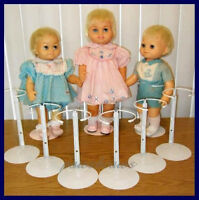 6 White Kaiser Doll Stands For Baby Chatty Cathy Tiny Chatty Baby Chatty Patty