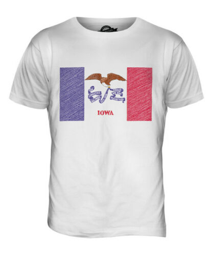 Football État Hommes Griffonnage T Iowa Haut shirt Drapeau Giftiowan 4qO1w1F8Z