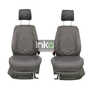VW-Caddy-Facelift-Front-Inka-Tailored-Waterproof-Seat-Covers-Grey-MY10-15