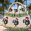 thumbnail 1 - Vintage Portugal Rooster Soft Eco friendly Purse - Woven Rattan Handle Ethnic