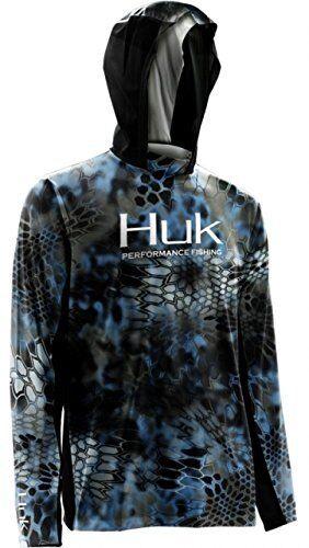 HUK Kryptek Icon Hoodie-Fishing Shirt--Pick Color/Size-Free Ship
