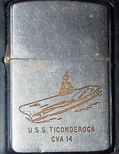 ZIPPO USS TICONDEROGA CVA 14 USED 1959
