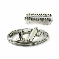 Curtain Drape Wire Rod Set With 24 Clips Multi-purpose Set Hang... Free Shipping