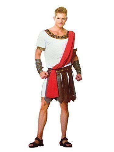 Adult Mens Roman Greek Gladiator Warrior King Caesar Fancy Dress Costume 1 size