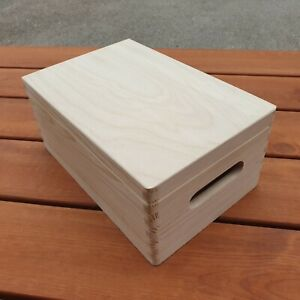 Boîte En Bois/coffre 30 X 20 X 13.5 Cm Avec Poignée Pour Decoupis-afficher Le Titre D'origine