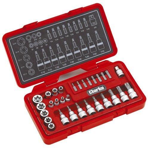 Clarke PRO162 Torx estrellas y seguridad Socket Set 1700562