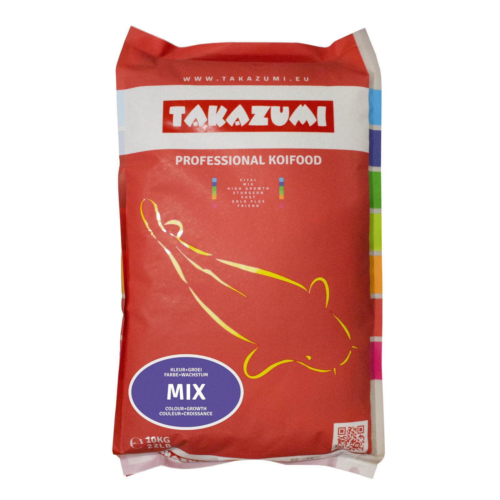 TAKAZUMI Mix Futter 4,5 mm Wachstum & gute Farbentwicklung Koi Teich Fisch 10 kg