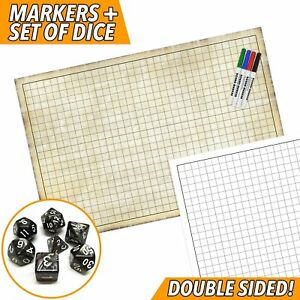 Rpg Battle Game Mat Dry Erase Double Sided 36 Quot X 24