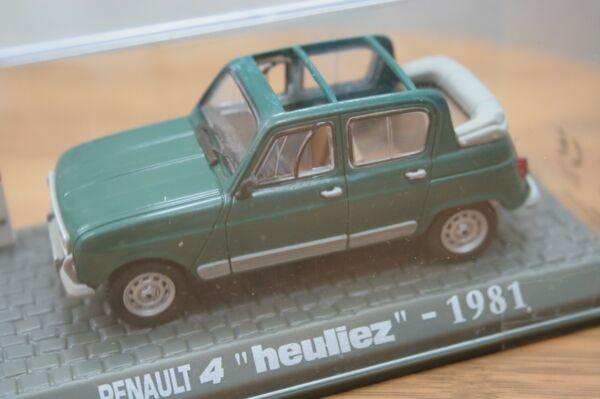 """Belle Renault 4 """"heuliez"""" De 1981 - Modèle Au 1/43e"""