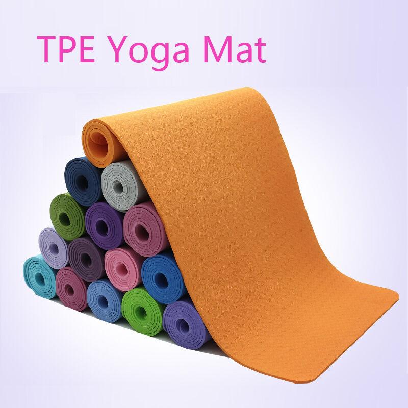 0.4 0.6 0.8cm Yoga Exercise Mat Workout Pilates Gym Camping Mat Pad Non Slip TPE