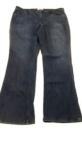 J-JILL-WOMEN-039-S-DARK-BLUE-WASH-BOOT-CUT-JEANS-SIZE-18
