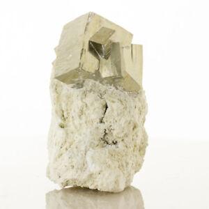 3-5-034-Shiny-Bright-Cubic-PYRITE-8-Crystal-Group-on-Matrix-Navajun-Spain-for-sale