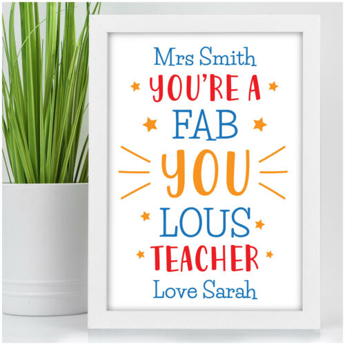 End of Term Gifts PERSONALISED Fabulous Teacher Head Teacher Assistant Gifts