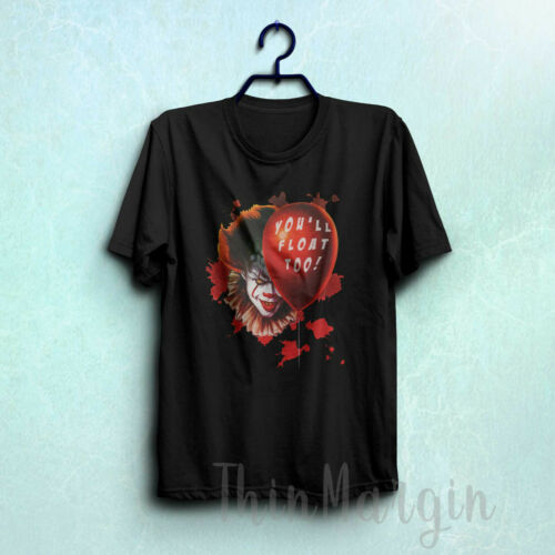 You/'ll float too t-shirt it chapter two 2 pennywise clown horror movie tee 324