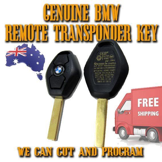 BMW 3 Button E46 + X3 + E83 + X5 + E53 Transponder Remote Key BRAND NEW