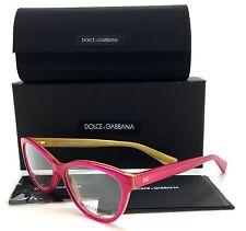 Dolce & Gabbana Fuchsia Eyeglasses DG 3232 2957 53 mm Gold Demo Lenses