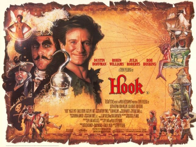 Hook movie poster : 12 x 16 inches - Peter Pan poster ...