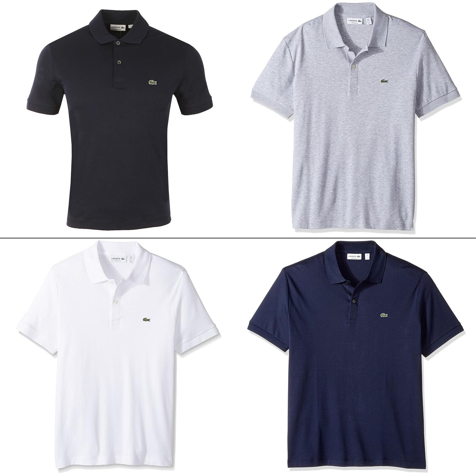 Lacoste Men T-Shirts Cotton Soft Jersey Short Sleeve Regular Fit Polo Shirt
