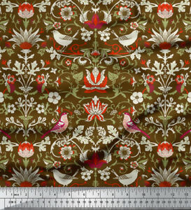 Soimoi-Floral-Print-44-Inches-Wide-Pure-Silk-Fabric-Material-Supply-By-The-Yard