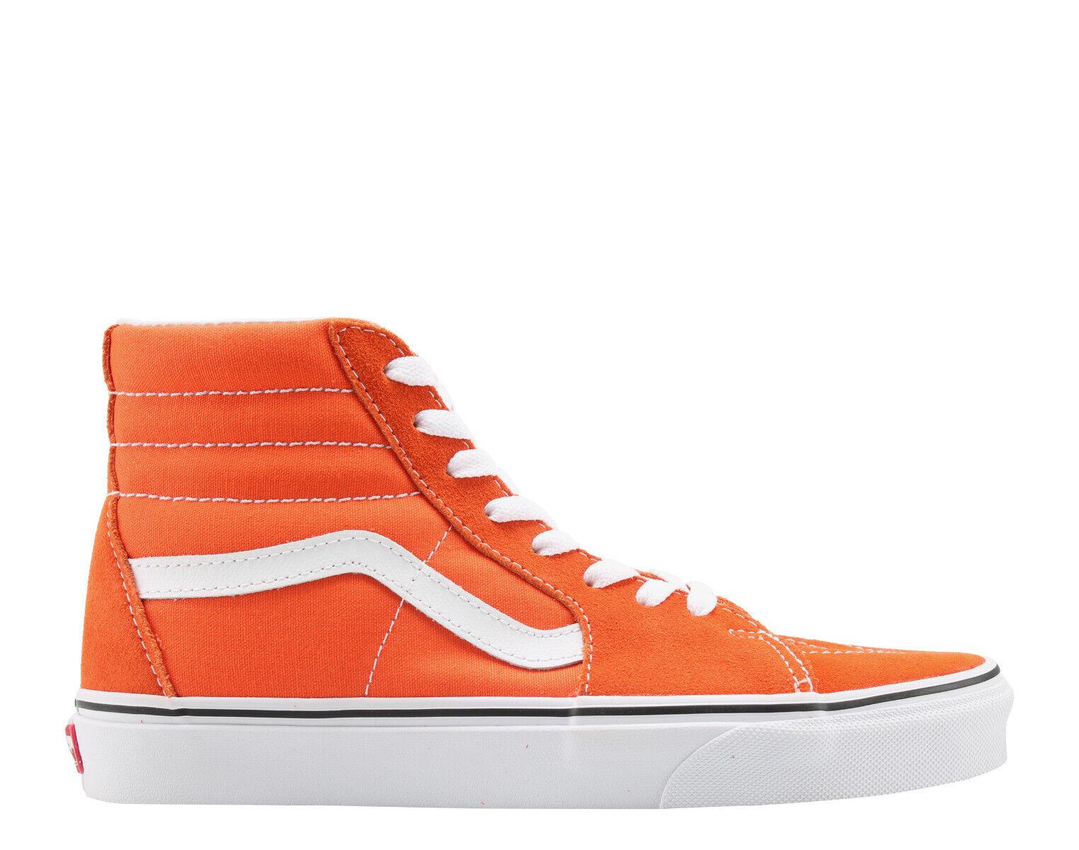 NWOB Men's  Vans Sk8-Hi VN0A38GE2W1  Flame True White shoes Size us 10.5
