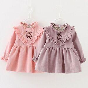 df14484afba64 Toddler Infant Kids Baby Girls Winter autumn Dress Princess Party ...