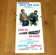 PIù FORTE RAGAZZI locandina poster affiche  Bud Spencer Terence Hill i37