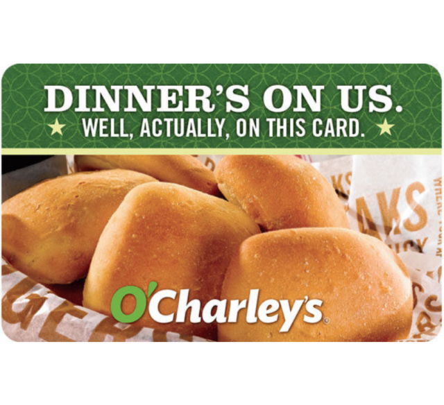 Buy a $25 O'Charley's Gift Card and save $5 - Email Delivery