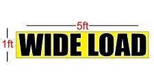 2pcs Lot Wide Load Vinyl Banner Sign 13oz 1ft X 5ft Truck Towing Trailer