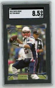 2013 Topps Prime #12 Tom Brady SGC 8.5 Graded Football Card GOAT