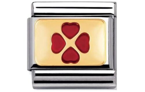 nomination charm Red Four Leaf Clover RRP £22
