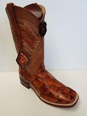 ce064845b5d New Men's Los Altos 8221003 Piraruccu Fish cognac wide square toe cowboy  boots | eBay